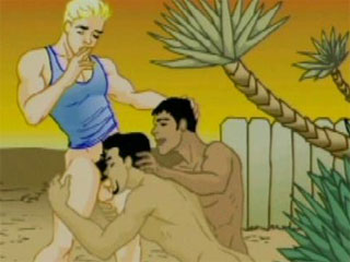 Gay Sex Toons - Gay blowjob Gay Toons